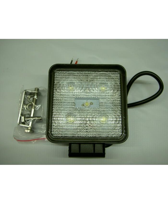 ФАР КВАДРАТЕН   5 LED 12-24V, 5x3W, 110x110мм.