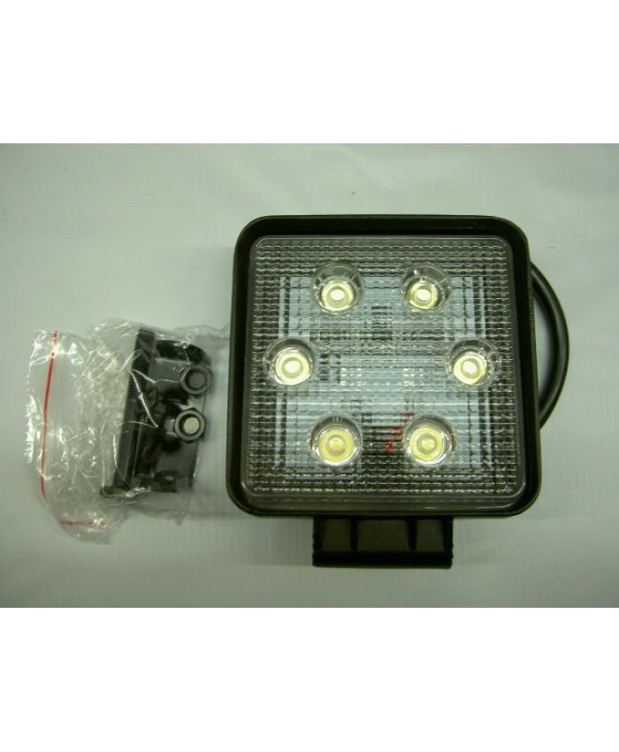 ФАР КВАДРАТЕН   6 LED 12-24V, 6x3W, 110x110мм.