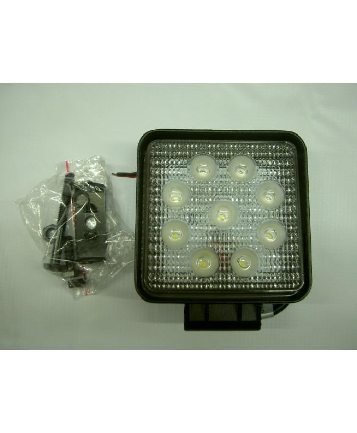 ФАР КВАДРАТЕН   9 LED 12-24V, 9x3W, 110x110мм.